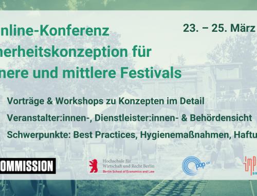 """2. Konferenz """"Sicherheitskonzeption für kleinere und mittlere Festivals"""""""