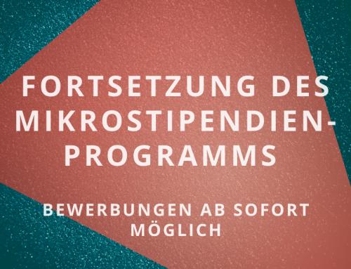 Fortsetzung des Mikrostipendien-Programms für hauptberuflich freischaffende Künstler:innen